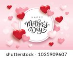 happy mother's day greetings... | Shutterstock .eps vector #1035909607