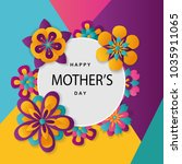 happy mother's day layout... | Shutterstock .eps vector #1035911065