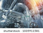 equipment  cables and piping as ... | Shutterstock . vector #1035911581