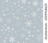 white snowflakes seamless... | Shutterstock .eps vector #1035918625