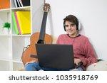 teenager or student working...   Shutterstock . vector #1035918769