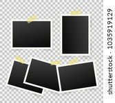 set of template photo frames... | Shutterstock .eps vector #1035919129