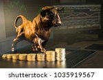 financial investment in bull... | Shutterstock . vector #1035919567