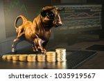 financial investment in bull... | Shutterstock . vector #1035919567