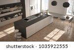 modern kitchen in classic... | Shutterstock . vector #1035922555
