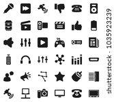 flat vector icon set   cinema... | Shutterstock .eps vector #1035923239