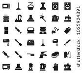 flat vector icon set   plunger... | Shutterstock .eps vector #1035924391