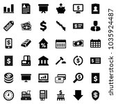 flat vector icon set   bank... | Shutterstock .eps vector #1035924487