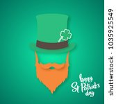 origami of irishman. saint... | Shutterstock .eps vector #1035925549