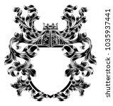 a medieval heraldic coat of...   Shutterstock . vector #1035937441