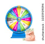 fortune wheel of luck automatic ... | Shutterstock .eps vector #1035939094