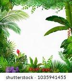 tropical jungle on white... | Shutterstock .eps vector #1035941455