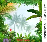 tropical landscape with palm... | Shutterstock .eps vector #1035941494