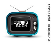 retro tv with coming soon title ...   Shutterstock .eps vector #1035941611