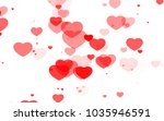 red and pink heart. valentine's ... | Shutterstock . vector #1035946591