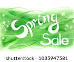 lettring spring sale  on an... | Shutterstock . vector #1035947581