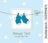 baby boy shower invitation card | Shutterstock .eps vector #103594871