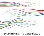 set of abstract color  curved...   Shutterstock .eps vector #1035950677
