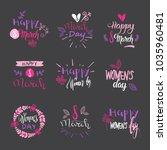 international women day badges... | Shutterstock .eps vector #1035960481