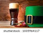 st. patrick day symbols green...   Shutterstock . vector #1035964117
