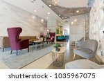hotel lobby  lounge cafe | Shutterstock . vector #1035967075