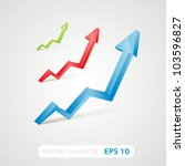 vector growing diagram | Shutterstock .eps vector #103596827