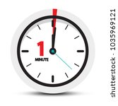 one minute clock icon | Shutterstock .eps vector #1035969121