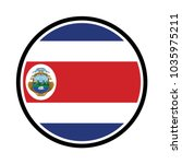 costa rican flag badge   flag... | Shutterstock .eps vector #1035975211
