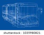 concept city bus. vector... | Shutterstock .eps vector #1035980821