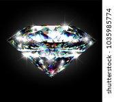 dazzling shiny colorful diamond ... | Shutterstock .eps vector #1035985774