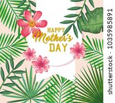 happy mothers day card with...   Shutterstock .eps vector #1035985891