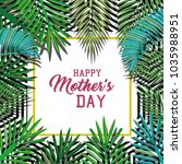 happy mothers day card with... | Shutterstock .eps vector #1035988951