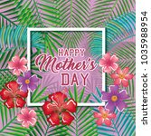 happy mothers day card with...   Shutterstock .eps vector #1035988954