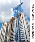 construction of a residential... | Shutterstock . vector #1035990157