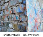 bricks wall abstract colorful... | Shutterstock . vector #1035991021