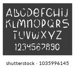 hand drawn grunge style... | Shutterstock .eps vector #1035996145