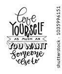 love yourself handwritten... | Shutterstock .eps vector #1035996151