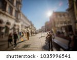 crowd of anonymous people... | Shutterstock . vector #1035996541