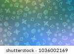 light blue vector cover with... | Shutterstock .eps vector #1036002169
