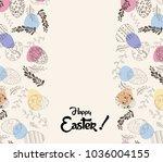 easter greeting card | Shutterstock .eps vector #1036004155