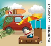 summer vacattions set icons | Shutterstock .eps vector #1036004905