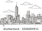 line art vector illustration of ... | Shutterstock .eps vector #1036004911