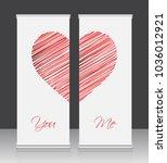 roll up business banner design | Shutterstock .eps vector #1036012921