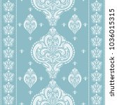 light blue and white ornamental ... | Shutterstock .eps vector #1036015315