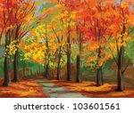 Vector Of Autumn Landscape ...