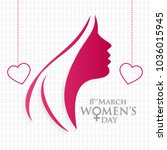 women day typogrpahic vector... | Shutterstock .eps vector #1036015945