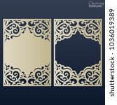 paper greeting card with lace... | Shutterstock .eps vector #1036019389