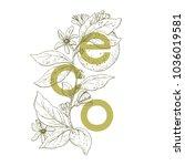 ecology concept  vector...   Shutterstock .eps vector #1036019581