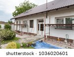 reconstruction of the old house ... | Shutterstock . vector #1036020601