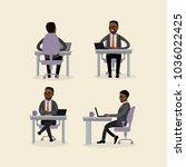 african american businessman is ... | Shutterstock .eps vector #1036022425